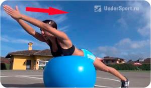 фитнесс-мяч - комплекс упражнений