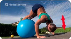 комплекс упражнений для мяча